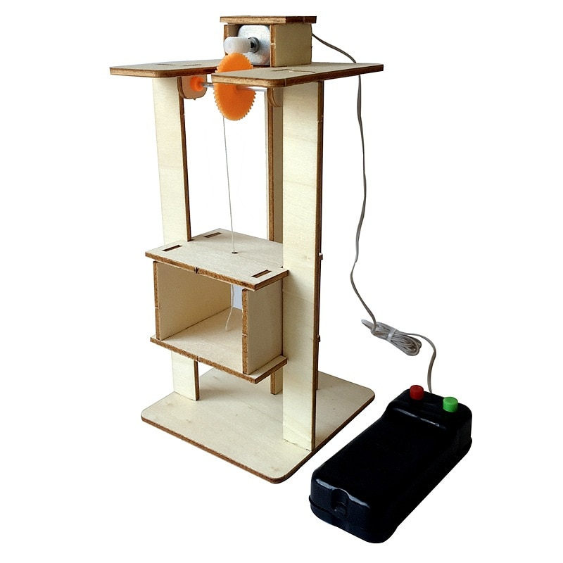 DIY Remote Control Electric Lift Elevator Kids Science Toys Experiment Kits Creative STEAM Educational Project