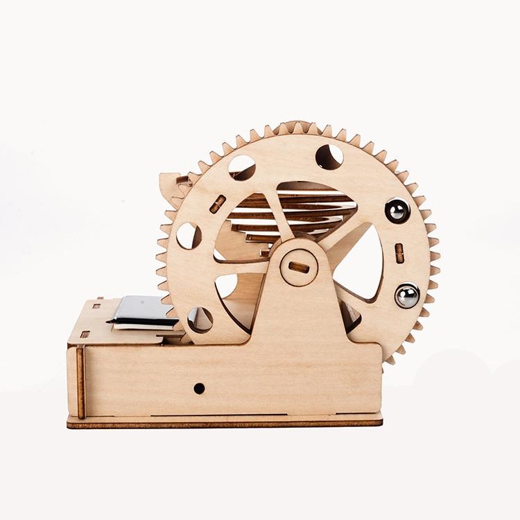 Steam Science Educational Kit 3D Wooden Marble Run Ball Solar Powered DIY Building Assemble Mechanical Gear Engineer Model Toys