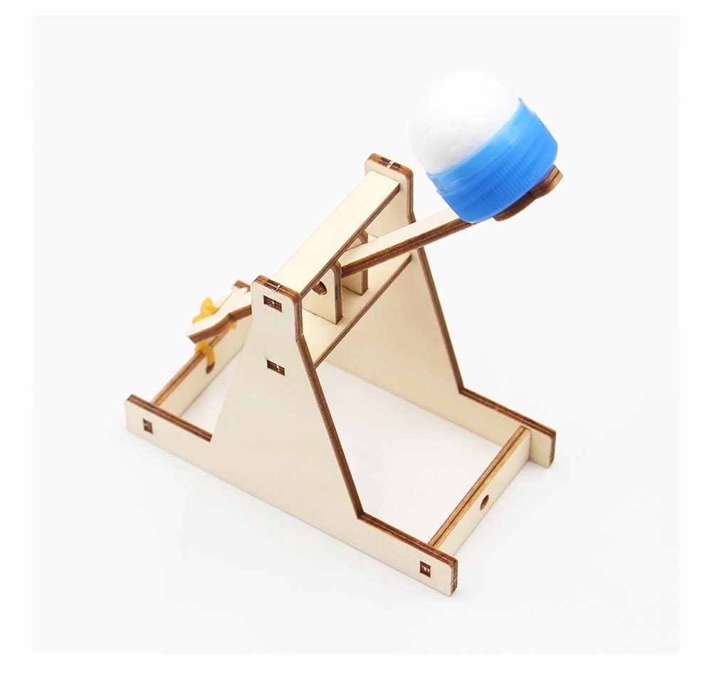 Wooden Catapult Model Steam Kit DIY Trebuchet Educational Science Assembly Building Sets Toys for Children Physics Experiment