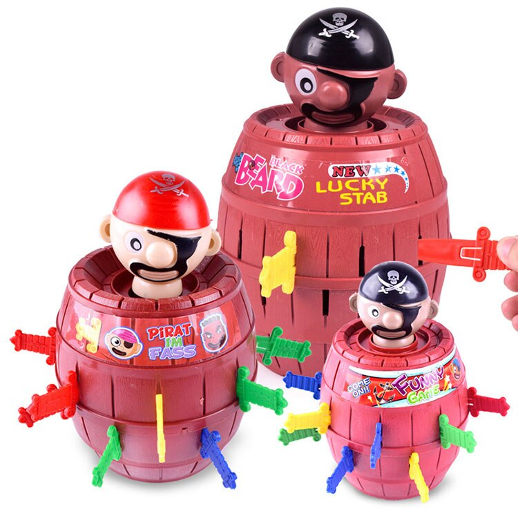 Children Jumping Pirate Barrel Game Toy